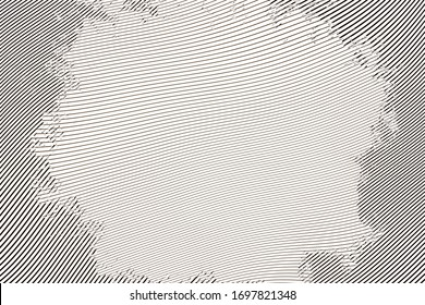 Halftone engraving grunge line art.