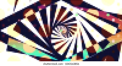 halftone pattern with geometric abstractbackground
