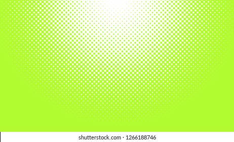 Halftone square background texture. Lime green and White. Pop Art.