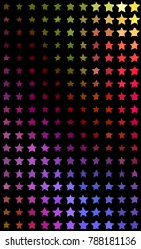 Halftone Stars Background Of Abstract Graphic Design Colorful Illustration For The Covers Brochures