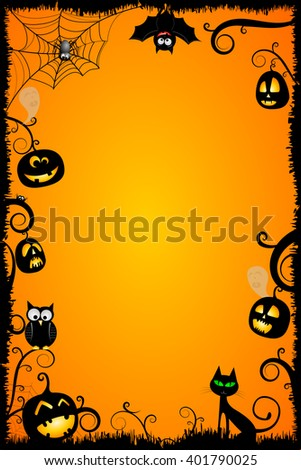 halloween card templateのイラスト素材 401790025 shutterstock