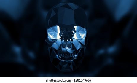 Halloween Crystal Skull Illustration