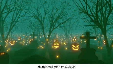 Rendu 3d de l'Arrière-Plan Gris d'Halloween