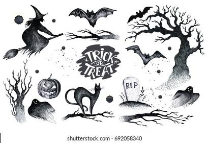 Halloween Drawing Images Stock Photos Vectors Shutterstock