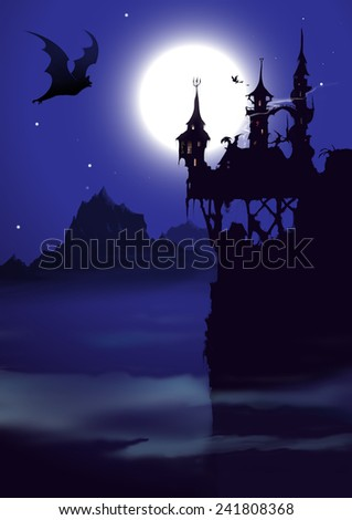 Halloween Invitation Background Stock Illustration 241808368