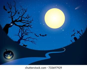 Halloween Moon Night