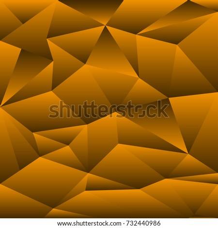 Halloween Orange Black Gradient Abstract Polygon Stock Illustration