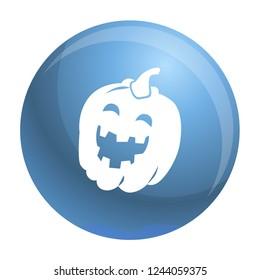 Halloween pumkin icon. Simple illustration of halloween pumkin icon for web design isolated on white background