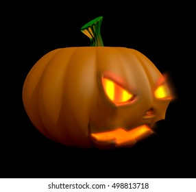 Halloween Pumpkin 3D Illustration