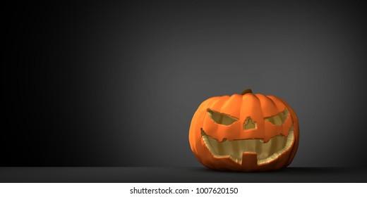 halloween pumpkin 3d rendering