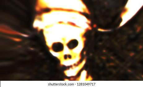 Halloween Scary Skull Death Symbol Artwork