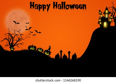 Halloween template design with space for text or message