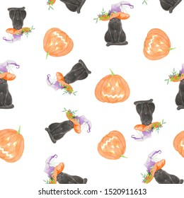 Halloween watercolor digital paper. Funny pumpkins on the web. Great for wrapping paper, textiles, stationery, digital scrapbooking, wrapping, printing fabrics and other projects.