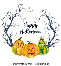 Halloween Wreath with pumpkins
