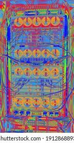 Hamburg, Germany - February 08, 2021: HP Bladesystem c7000 Enclosure in a data center server rack