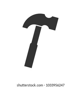 Hammer black icon on white
