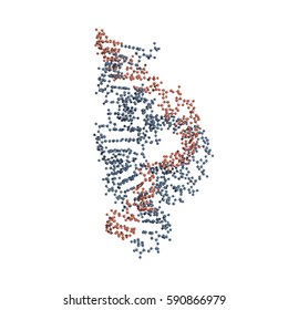 Hammerhead ribozyme is an RNA molecule that catalyzes targeted RNA cleavage and has therapeutic potential. Ball-and-stick model of the full-length form.