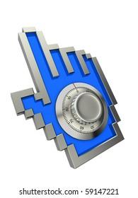 Hand cursor with combination lock
