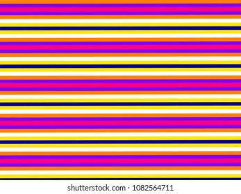 A hand drawing pattern made of orange purple fuchsia white yellow and blue.