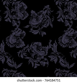 hand drawn abstract flower pattern