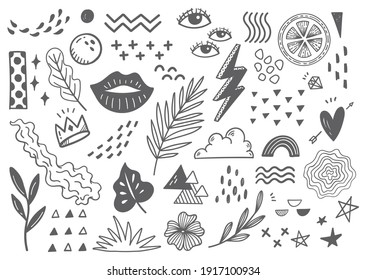 Hand drawn abstract scribble doodle background