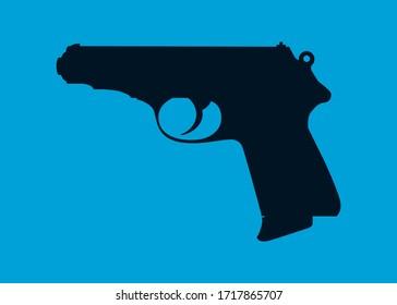 Hand drawn art of a gun
