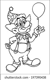 Circus Clowns Coloring Page 05 Coloring Page - Free Circus Clowns ...   280x177