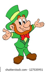 Hand drawn cartoon leprechaun/St. Patrick's Day Leprechaun