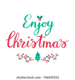 Hand drawn Christmas greeting