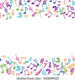 Colorful Music Notes. Vector Illustration Abstract Background. Stock Vector  - Illustration of event, beat: 101112033