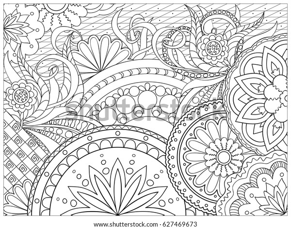 hand drawn decorated image doodle 600w
