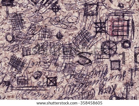 Hand Drawn Doodle Pattern Made By Stock Illustration