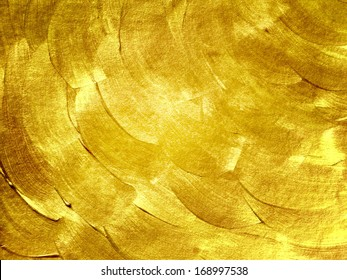 hand drawn golden background