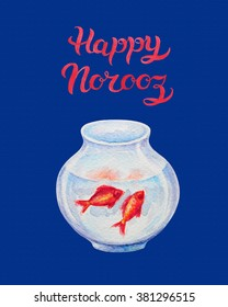 Happy norooz images stock photos vectors shutterstock hand drawn greeting card with title happy norooz word norooz mean m4hsunfo