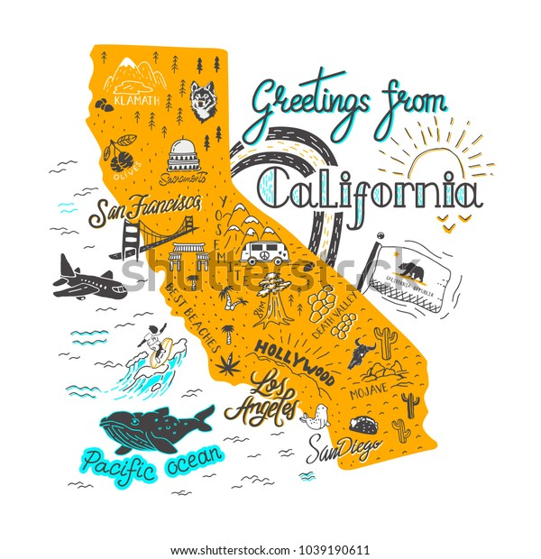 California Attractions Map on