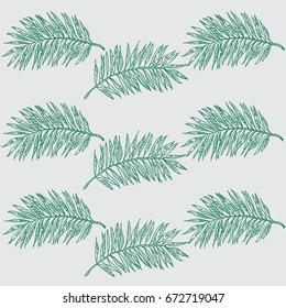 hand drawn illustration of palms.Graphic color background