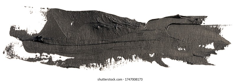 hand drawn isolated paintbrush stripe with dirty black color
