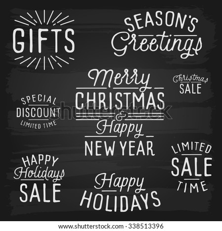 hand drawn lettering slogans for christmas and new year - Christmas Slogans