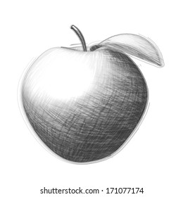 Hand drawn picture - apple