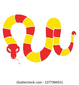 hand drawn quirky cartoon snake