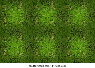 Hand drawn Raster illustration. Seamless flower pattern can be used for wallpaper, website background, wrapping paper, invitation, flyer, banner or website. Of doodle elements.