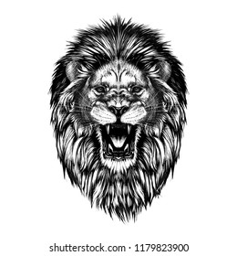 Roaring Lion Sketch Images Stock Photos Vectors Shutterstock Shut your loved ones up for one more year. https www shutterstock com image illustration hand drawn sketch lion head black 1179823900
