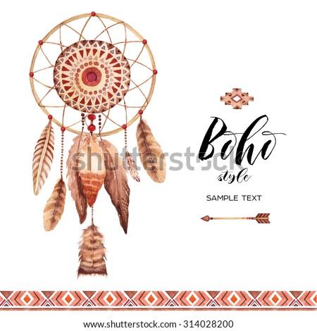 hand drawn style dreamcatcher tribal designのイラスト素材 314028200