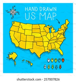 Us Cartoon Map Images Stock Photos Vectors Shutterstock - Cartoon-map-of-the-us