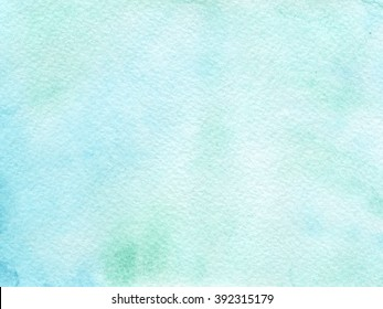 Hand drawn watercolor background with cold blue colors.. Hand painted colorful element for modern design.