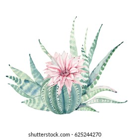 Hand drawn watercolor saguaro cactus. It's perfect for cards, posters, banners, invitations, greeting cards, prints.