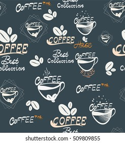 Hand Drawning coffee seamless Illustration, Illustration for your application , project