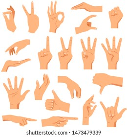 Hand gestures with cited signs and symbols