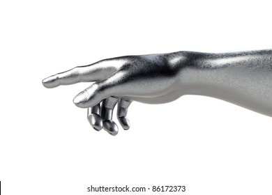 Hand of God on white