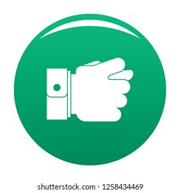 Hand greed icon. Simple illustration of hand greed icon for any design green